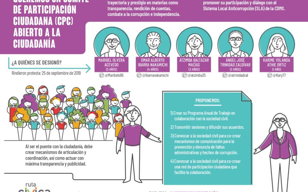 Evaluación ciudadana al proceso de designación del Comité de Participación Ciudadana (CPC) del Sistema Local Anticorrupción de la CDMX