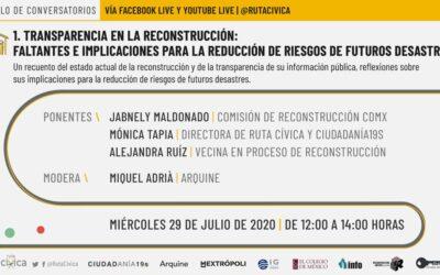 A TRES AÑOS DEL 19S, TRANSPARENCIA  EN LA RECONSTRUCCIÓN
