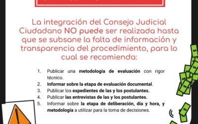 EVALUACIÓN CIUDADANA DE PERSONAS ASPIRANTES A INTEGRAR EL CONSEJO JUDICIAL CIUDADANO (CJC)