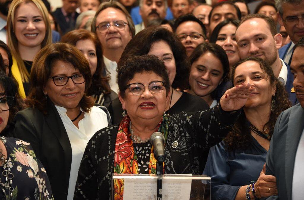 "CONGRESO DE LA CIUDAD DE MÉXICO AVALA NOMBRAMIENTO DE ""FISCAL CARNAL""; CONFIRMA A ERNESTINA GODOY COMO FISCAL GENERAL"