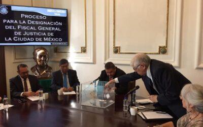 PROCESO DE ELECCIÓN DE TITULAR EN LA FISCALÍA GENERAL DE JUSTICIA DE LA CIUDAD DE MÉXICO