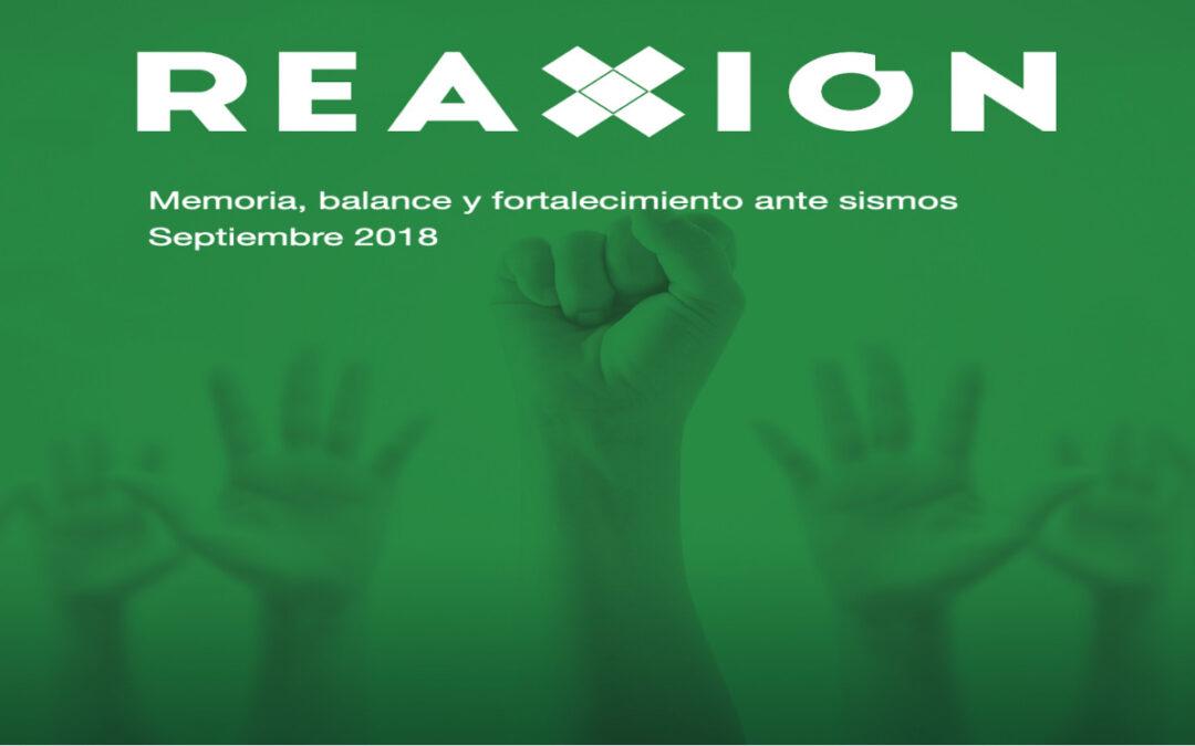 RED REAXIÓN, COLABORANDO CON OTROS ACTORES PARA LA MEMORIA, EL BALANCE Y FORTALECIMIENTO ANTE SISMOS